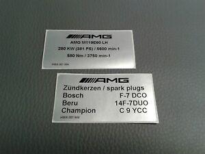 2 rare Mercedes-Benz AMG sticker E500 SL500 6.0 SL60 E60 R129 W124 381 PS