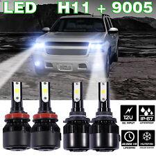 H11 9005 LED Combo FOR SILVERADO SUBURBAN TRAVERSE AVALANCHE COLORADO CRUZE EDGE