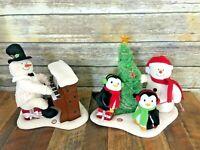 LOT Hallmark Jingle Pals Very Merry Trio Piano Snowman Lights Music