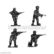 GLP08 RIFLEMAN x4 + BASE M GERMAN PARATROOPER LATE FLAMES OF WAR BITZ PSC 15mm