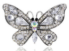 Victorian Vintage Sexy Crystal Rhines Butterfly Black Eye Adjustable Ring Band