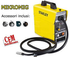 Welding Machine Mig Mikromig Stanley 95 a (No Gas) Compact Wire Animated +Tool