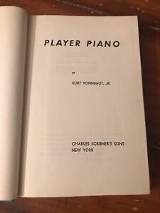 Player Piano Kurt Vonnegut Jr 1952 1st Ed Print Hardcover Scribner A PRISTINE!