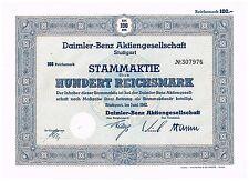 Daimler-Benz AG, Stuttgart, im Juni 1942, 100 RM, gelocht