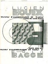 Publicité ancienne tissus d'ameublement Eric Bacce 1929