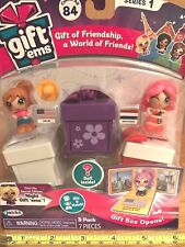 GIFT 'EMS 3 PACK MICRO DOLLS with transform gift box(Texas,Amsterdam)fac.sealed