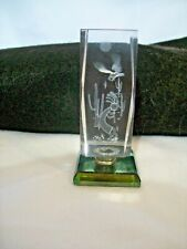 3D Glass Etched Paperweight South Western Design w/ Eagle & Color Changing Base