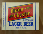 VINTAGE AMERICAN BEER LABEL - MAIER BREWERY, L.A. MANN-CHESTER LAGER 11 FL OZ