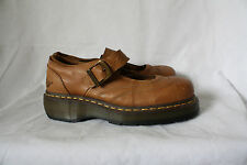 Dr Doc Marten Brown Leather Maryjanes Womens Sabina Oxford Mary Janes 10/42