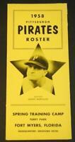 1958 Pittsburgh Pirates Baseball Spring Training Roster Danny Murtaugh
