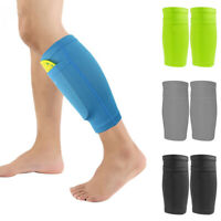 SPORT SOCCER LEG SHIN PADS GUARD SOCKS FOOTBALL CALF SLEEVES WITH POCKET FADDISH