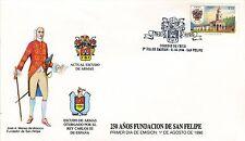 Chile 1990 FDC 250 años Fundacion de San Felipe