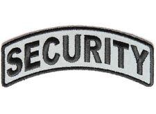 "(F27) SECURITY Rocker Black & Gray 4"" x 1"" iron on patch (4203)"