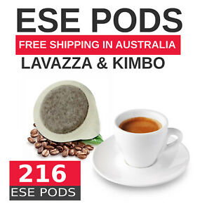 216 ESE PODS Lavazza & KIMBO - VALUE PACK  ***read description for details**