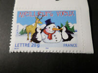 FRANCE 2005, timbre AUTOADHESIF 68 MEILLEURS VOEUX MANCHOTS RENNE, neuf**, MNH