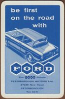 Playing Cards Single Card Old FORD ANGLIA Car PETERBOROUGH MOTORS Advertising 3
