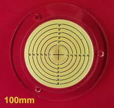 DISCO di diametro 100mm Livella a bolla rotonda CERCHIO CIRCOLARE Treppiede Bullseye