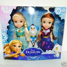 "Playset Frozen Princess Elsa&Anna&Olaf 7"" Doll Figures 3PCS Birthday Hot Gifts"