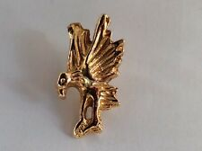 Tack Lapel/Hat Pin In Excellent Condition Vintage Gold Tone Flying Eagle Tie