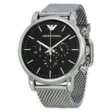 Emporio Armani AR1808 Chronograph Mesh Steel Strap Men's Watch