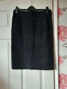Lovely Ladies Size 12 Ibana Leather Fronted Skirt