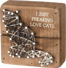 I Just Freaking Love Cats ~ Funny Cat Lover String Art Box Sign ~ Great Gift