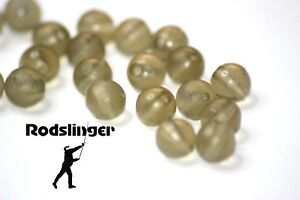 Carp fishing rig beads 6mm, Tapered bore, Translucent Brown or Green 20pk