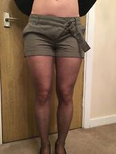 Topshop Dark Green Short Shorts Hot Pants - Size 8