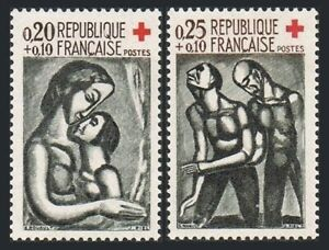 France B356-B357, MNH. Red Cross. Art, Design by Georges Rouault, 1961