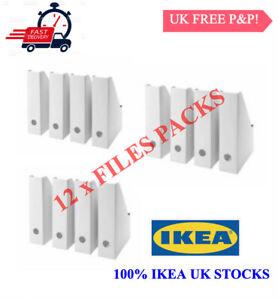 12X Ikea Fluns White Magazine Office File Organiser Holder Paper Storage