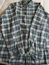 Daniel Hechter shirt Size 3/L checked green yellow white Used VG