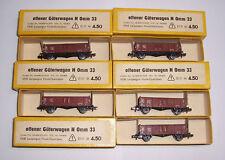 5 x offener Güterwagen Spur N Omm 33 VEB Leipziger Modellbahnbau DDR OVP !