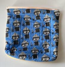 """Handmade Newspaper Hat Boy  Zippered Project Bag 8x8"""""""