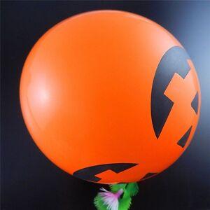 20X Orange Colour Pumpkin Similing Face Balloons For Halloween Party 30cm