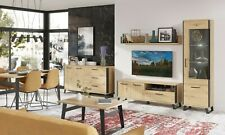 LOFT HIGH QUALITY MODERN LIVING & DINING ROOM FURNITURE IN ARTISAN OAK AND BLACK