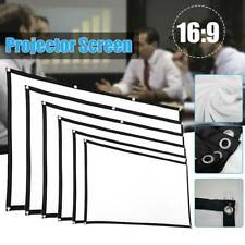Foldable Portable Projector Screen 16:9 Hd Outdoor Home Cinema Theater Us Stock