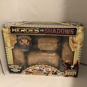 NEW LOT OF 6 Treasure X Heroes vs Shadows - Includes Real Gold Dipped Treasure