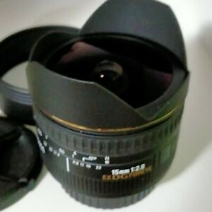 Sigma EX 15mm f/2.8 DG ex Lens For Canon + Hood  + Case MINT COND  EXPRESS POST