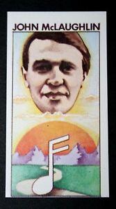 John McLaughlin   Guitarist    Superb Original 1970's  Illustrated Card   EXC