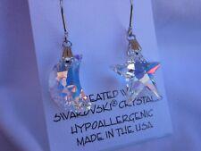 Swarovski Elements Hypoallergenic Lead and Nickel Safe AB Crystal Star Shape