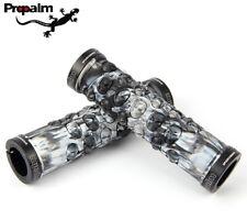 Propalm MTB XC Bike Skull TPR Handlebar Grip Lock on fixie rubber bar Grips Gray
