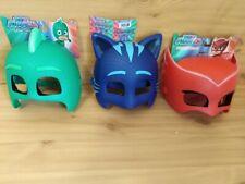 NEW PJ Mask Catboy, Gekko and Owlette Plastic Mask set Bundle - Brand New