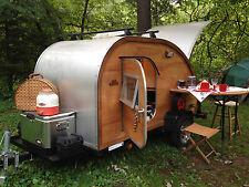ATTN: GLAMPERS!!!!!    Big Woody Teardrop Camper Trailer PLANS in PDF  Download