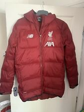 New Balance Liverpool FC Padded Hooded Coat Jacket Medium Red