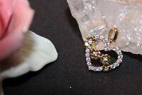 Antiker Anhänger Vergolden 925 mit Stein Zirkonia das Herz