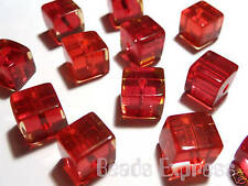Glass Cube Jewellery Making Beads