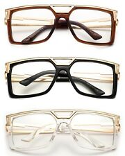Run Dmc Lente Claro Gafas HIP HOP RAPPER Retro Grande De Gran Tamaño de lente claro