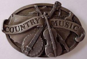 Pays Musique Boucle Ceinture Laiton 1984