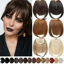 Natural Fringe Hair Extensions Neat Hair Bangs Clip In Synthetic Pieces as Human