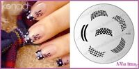 Konad   Nail Art Decal Image Plate M 44  French Manicure FANCY TIP + wine File